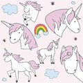 Glitter unicorn drawing for t-shirts. Design for kids. Fashion illustration drawing in modern style for clothes. Girlish print.