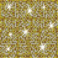 Glittering Gold Texture for your design. Stone plate paving pattern. Geometric Seamless vector pattern