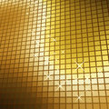 Glittering golden mosaic Stock Photos