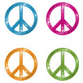 Glittering peace a colorful set of signs Royalty Free Stock Photos