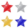 Glittering stars a colorful set of Stock Photography
