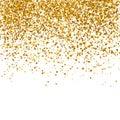 Golden glitter texture on a white background. Vector illustration,eps 10.