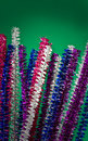 Glittery colored pipe cleaners Royalty Free Stock Photography