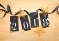 2018 With Glittery Decoration