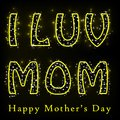 Glittery happy mother s day easy to edit vector illustration of Stock Images