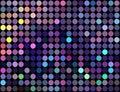Glitz dots mosaic lilac blue yellow pattern. Lights colorful background.