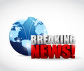 Global breaking news illustration design over a white background Royalty Free Stock Photos