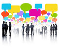 Global Business Communications with Colorful Speech Bubble Royalty Free Stock Photo