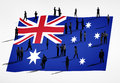 Global Business Concept with Australian Flag Royalty Free Stock Photo