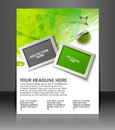Global business flyer poster template Royalty Free Stock Photos