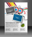 Global business flyer poster template Royalty Free Stock Photography