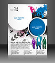 Global business flyer poster template Stock Photography