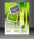 Global business flyer poster template Royalty Free Stock Images