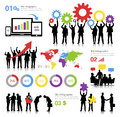 Global Business Themed Illustration With Infographics Royalty Free Stock Photo