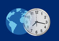 Global business time concept banner for a website thum Stock Photos