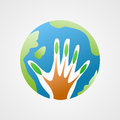 Global care tree logo element Stock Images