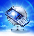 Global Cell Phone Travel Royalty Free Stock Photos