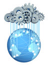 Global cloud computing network Royalty Free Stock Image