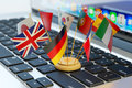 Global communication and business concept, translate and e-learning