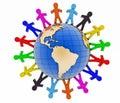 Global communication concept. World partnership Royalty Free Stock Photo