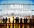 Global communication globalization connection communicate concept Stock Photos
