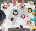Global Community World People International Nationality Concept Royalty Free Stock Photo