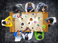 Global community world people social networking connection conce concept Stock Image