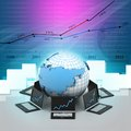 Global computer network in abstract background Stock Photos