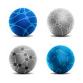 Global connection icons vector set of Royalty Free Stock Photo