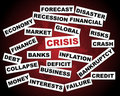 Global crisis Stock Image