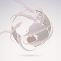 Global directional background template clip art Royalty Free Stock Photography