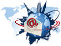 Global e-mail concept. Stock Photos