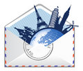 Global e-mail concept. Stock Photo