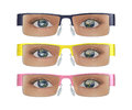 Global Earth Eyes Glasses Illustration Royalty Free Stock Photo