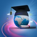 Global education digital illustration of Royalty Free Stock Photo