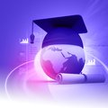 Global education digital illustration of Stock Photography