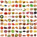 Global gastronomy collage in white background Royalty Free Stock Photo