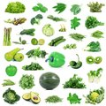 Global green gastronomy collage in white background Royalty Free Stock Photo