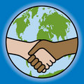 Global Handshake Stock Image