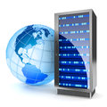 Global hosting internet server concept hi res digitally generated image Stock Images