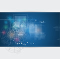 Global infinity computer technology concept business background abstract Royalty Free Stock Photos