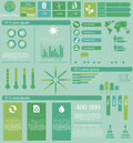 Global infographics Arkivfoto