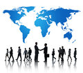 Global Internation Business Cooperation Collaboration Concept Royalty Free Stock Photo