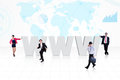 Global internet business Royalty Free Stock Photo
