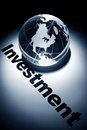 Global investment globe concept of Stock Photography