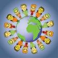 Global kids Royalty Free Stock Photo
