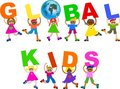 Global kids Royalty Free Stock Photo