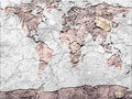 Global map parched earth Royalty Free Stock Photo