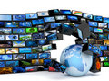 Global media technology Stock Photography