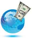 Global money box Stock Photo